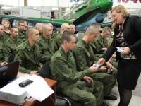 Уполномоченный Т.В. Журик приняла участие в ежегодном Дне призывника, который прошел в музее Боевой и Трудовой славы