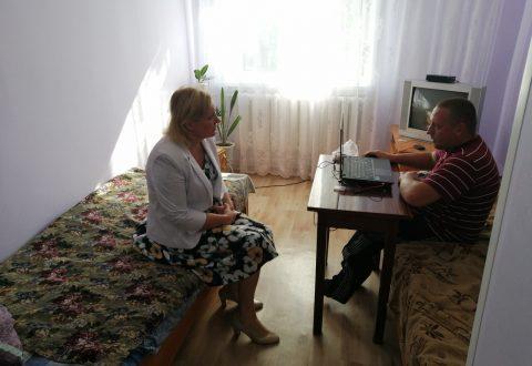 Уполномоченный по правам человека Т.В. Журик посетила Подлесновский дом-интернат для престарелых и инвалидов.